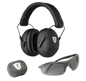 HEARING PROTECTOR, TACTICAL RANGE KIT W/SHOOTING GLASSES, BLACK