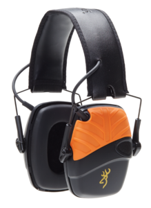 HEARING PROTECTOR, ELECTRONIC BROWNING XTRA PROTECTION, BLACK ORANGE