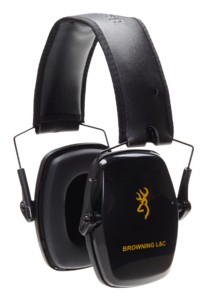 HEARING PROTECTOR, BROWNING L&C PASSIVE, BLACK